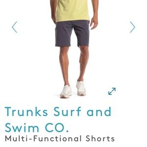 Trunks Multi-Functional Short in charcoal gray 30